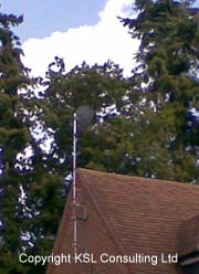 Pole mounted Sky dish