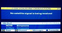 No satellite signal is being received